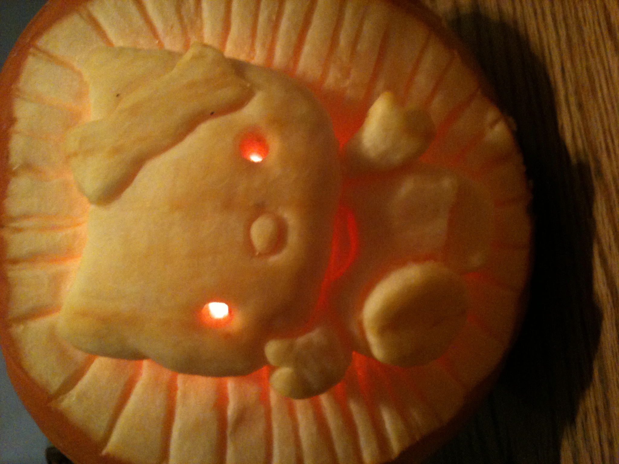 Hello Kitty Pumpkin Carving Stencil