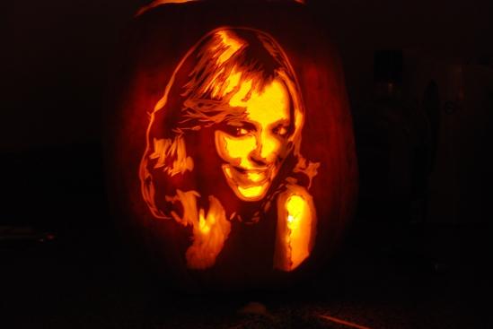Rachel McAdams pumpkin