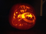 Captain America Pumpkin