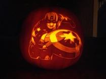 Captain America Pumpkin