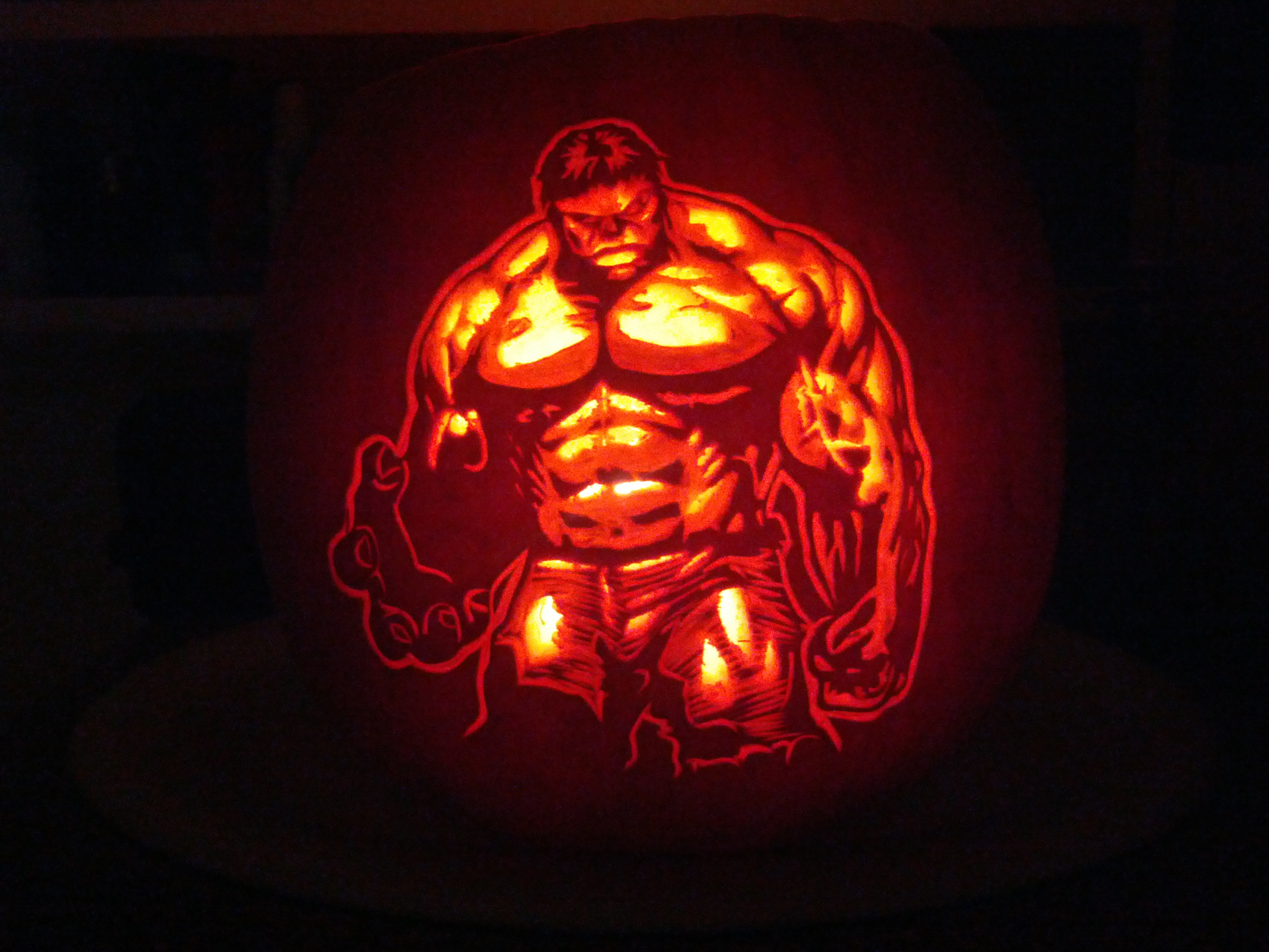 Hulk smash the carving