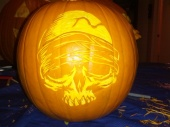 Skelton pumpkin