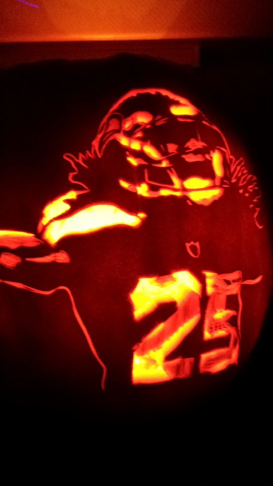 Richard Sherman Pumpkin